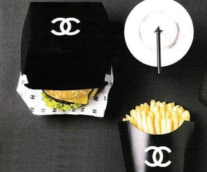 chanel, food, and black image