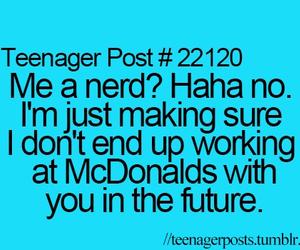 funny, nerd, and McDonalds image