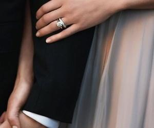 couple, diamonds, and married image