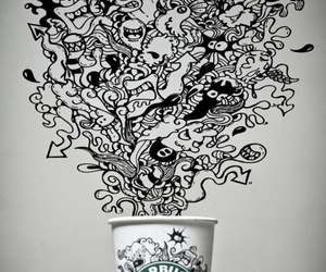 art, design, and starbucks image