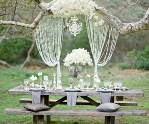 wedding, white, and table image