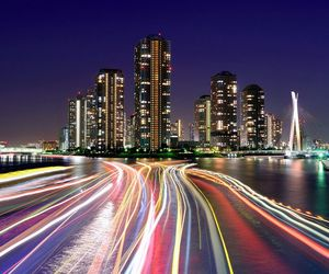buildings, city, and light image