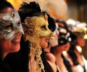 mask, girl, and photography image