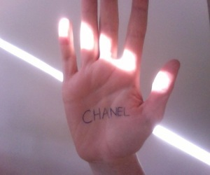 chanel, pale, and hand image