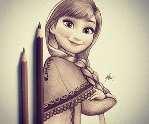 drawing, anna, and frozen image
