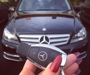 mercedes, car, and nails image