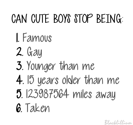 Cute boy quote