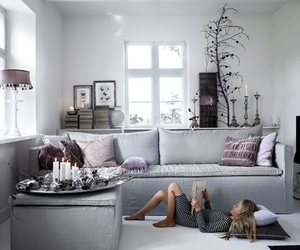 couch, room, and love image