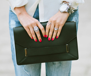 fashion, nails, and bag image
