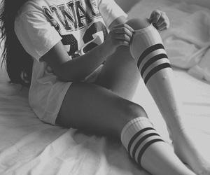 girl, socks, and white image