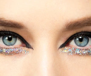 eyes, makeup, and glitter image