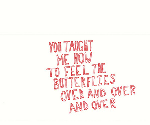 love, butterfly, and text image