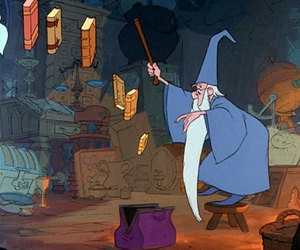 disney, merlin, and books image
