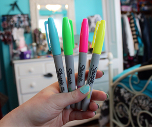 Sharpie, tumblr, and colorful image