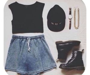 black, boots, and clothes image