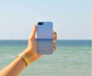 blue, ocean, and case image