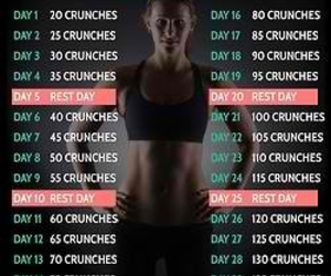 challenge, fitness, and crunches image
