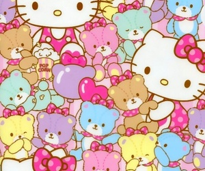 hello kitty and wallpaper image