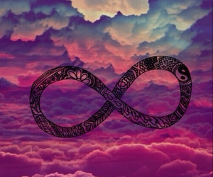 infinity, forever, and clouds image