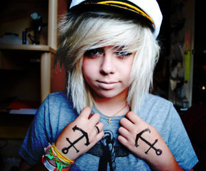 anchor, cute, and blonde image