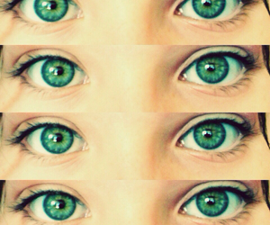 eyes, green, and cute image