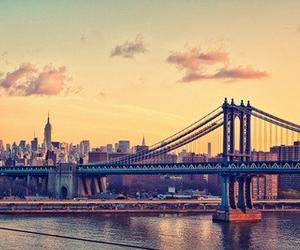 bridge, life, and buildings image