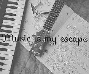 guitar, music, and escape image