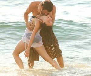 love, beach, and dance image