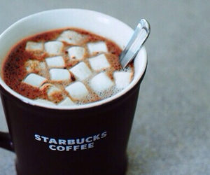 girly, marshmallows, and starbucks image