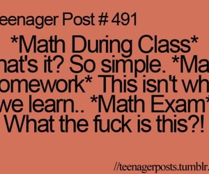 teenager post, math, and post image