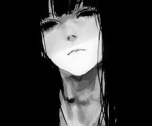 anime, black and white, and monochrome image