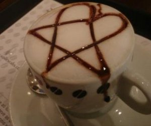 capuccino, heartagram, and him image