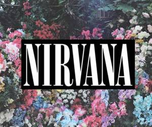 nirvana, flowers, and music image