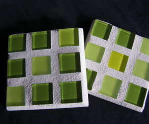 coasters, home decor, and lime green image