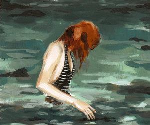 ginger, ocean, and swim image
