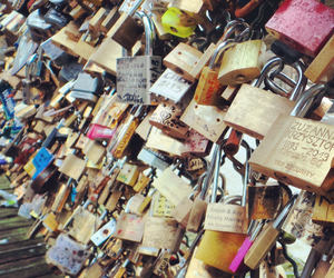 amour, paris, and pont des arts image