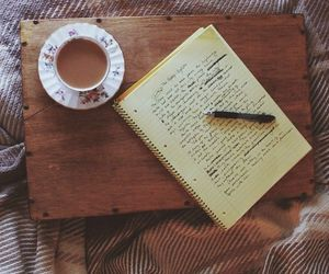 vintage, coffee, and writing image