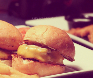 burger, cheese, and delicious image
