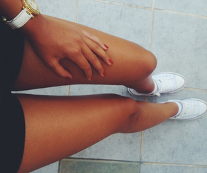 legs, girl, and converse image