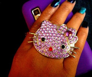 hello kitty, ring, and fashion image