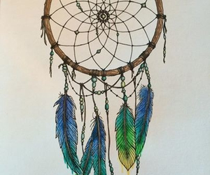 Dream, drawing, and dream catcher image