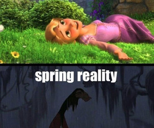 spring, funny, and disney image