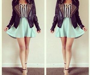 fashion, skirt, and jacket image