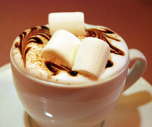 coffee, marshmallow, and chocolate image