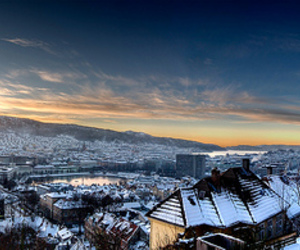 bergen, norway, and hdr image