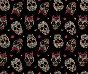 wallpaper, skull, and background image