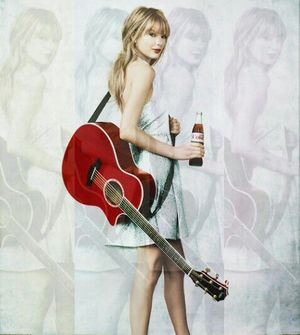 coke, ad, and Taylor Swift image