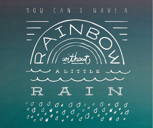 Best, rainbow, and quote image
