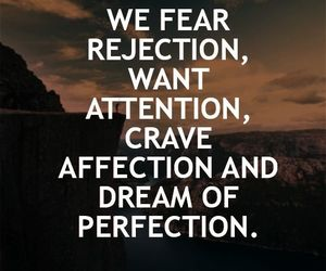 Dream, perfection, and rejection image
