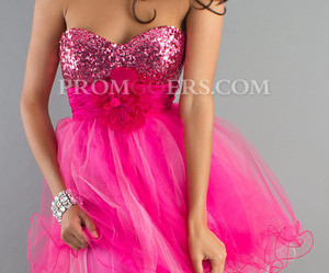 homecoming dress, sweetheart prom dress, and pink prom dress image